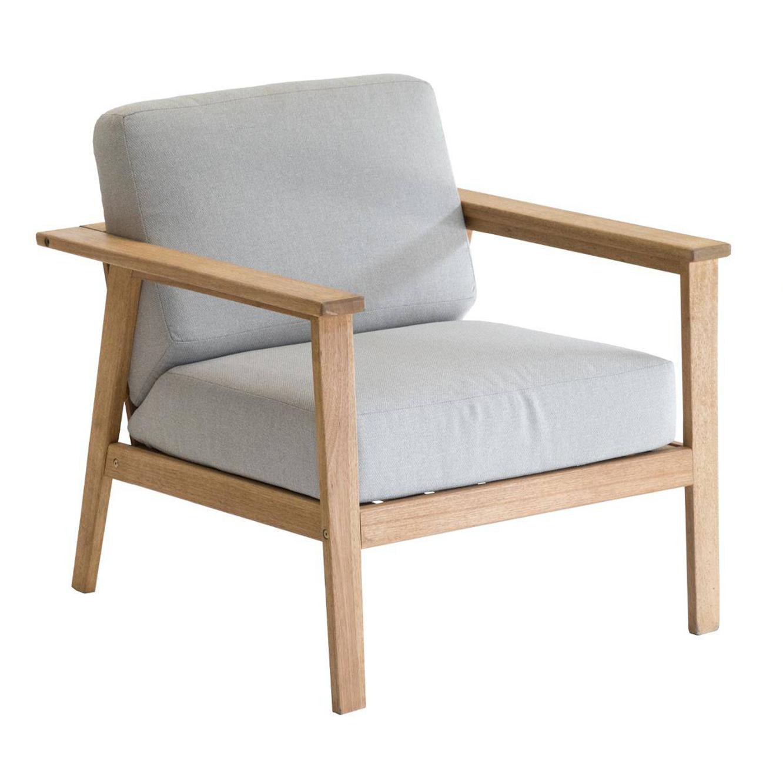 מערכת ישיבה בעלת ריפוד עבה וחזק לגינה או למרפסת מעץ דגם BARCELONA - תמונה 4