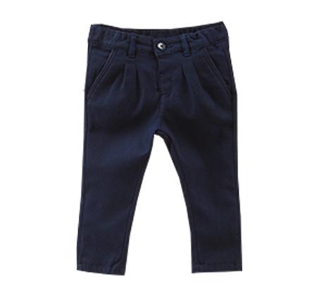 מכנסיים סטרצ'יות OVS  עם קפלים לפעוטות - כחול נייבי