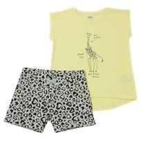 Minene חליפת גן (2-7 שנים) - ג'ירפה צהוב