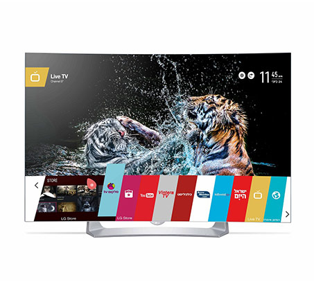"""טלוויזיה LG מסך """"55 קעורה בטכנולוגיית OLED  דגם 55EG910Y"""