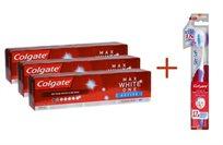 ביי ביי למחיר המלא! 3 משחות שיניים קולגייט להלבנה  Max White One Active + מברשת Slim Soft מתנה!
