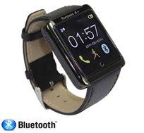 שעון Bluetooth SMART WATCH עם מגוון ישומים כולל מצפן, מענה לשיחות, צילום תמונות מרחוק ורצועת עור