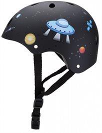 קסדה בטיחותית ומעוצבת עם מנגנון התאמה לראש - שחור
