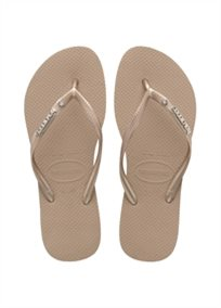 HAVAIANAS נשים //  SLIM METAL LOGO / CRYSTAL ROSE GOLD
