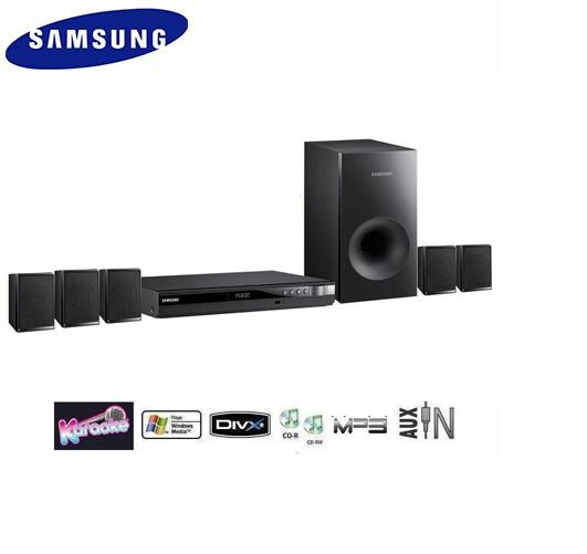 מערכת קולנוע ביתי SAMSUNG עם חיבור USB הקורא סרטים, תמונות ושירים