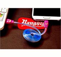 מטעינים ומאירים! I-Light כבל טעינה לסמארטפון עם תאורת LED מחליפה צבעים, קונים 3 והרביעי מתנה