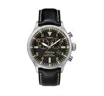 שעון יד כרונוגרף אופנתי לגבר, עם תאורת INDIGLO בלחיצת כפתור TIMEX