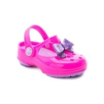 Crocs Carlie Glitter Bow MJ - סנדל סגול לילדות בעיטור פפיון