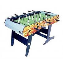 שולחן כדורגל מתקפל דגם T4003 בגודל 4 פיט GENERAL FITNESS בעל מסגרת מעוצבת כולל 2 כדורים