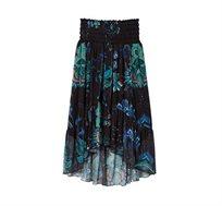 חצאית לנשים Desigual דגם Loreta בצבע שחור/טורקיז