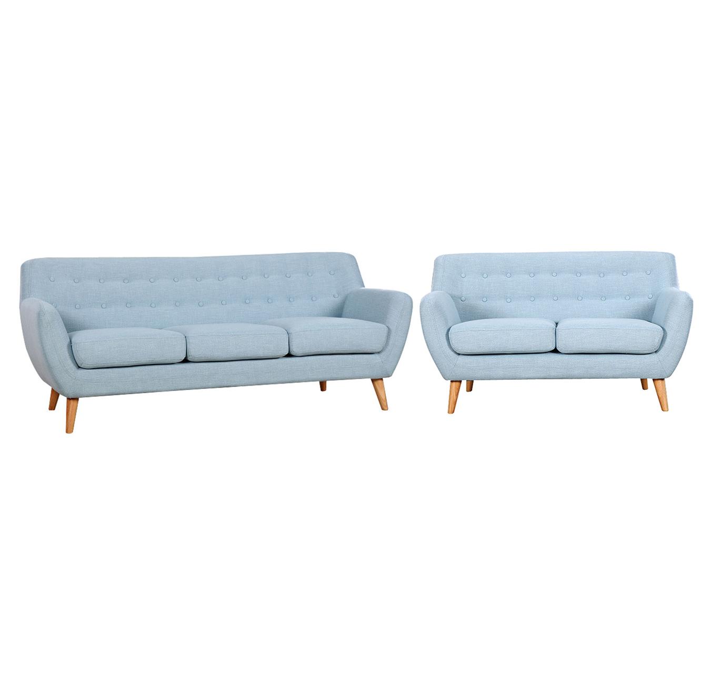 מערכת ישיבה לסלון דגם PICASSO הכוללת ספה דו מושבית וספה תלת מושבית בצבעים לבחירה BRADEX - משלוח חינם - תמונה 2