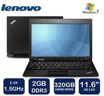"""נייד LENOVO קל משקל 1.5 ק""""ג עם מסך """"11.6, דיסק קשיח 320GB, זיכרון 2GB ו-WIN7"""