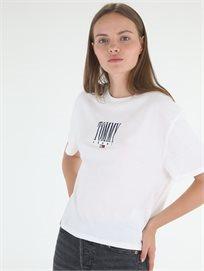 חולצה טומי הילפיגר לבנה לנשים