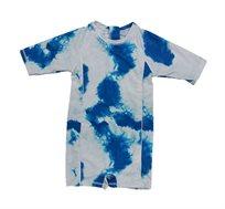 בגד ים אוברול Minene לבנות - טאי דאי כחול