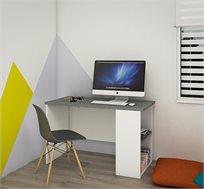 שולחן עבודה קלאסי עם כוורת צדדית דגם שקד במגוון צבעים לבחירה