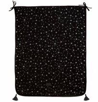 Baby Mitmit שמיכת קיץ לעגלה ולהנקה עם פונפונים שחור Galaxy Collection