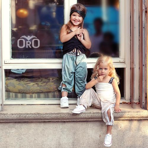 Oro/  מכנסי ניילון (2- 7 שנים) גומי ירוק