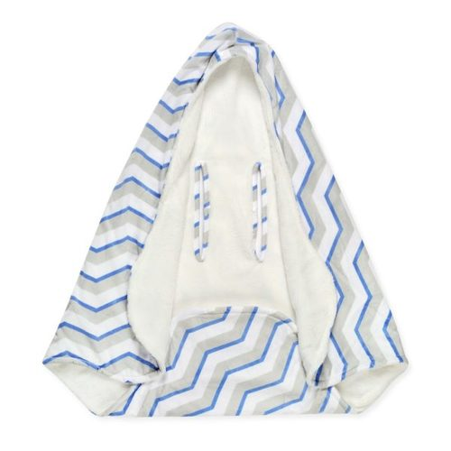 שמיכה רכה עם כובע לסלקל / עגלה - תמונה 2