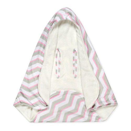 שמיכה רכה עם כובע לסלקל / עגלה - תמונה 3