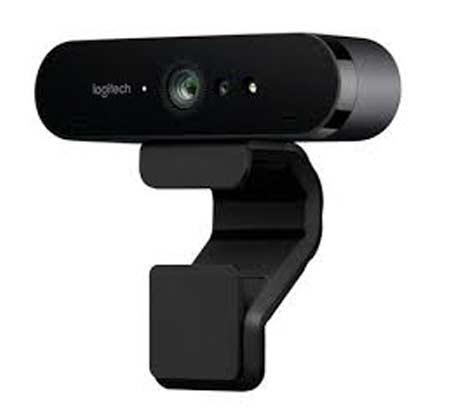 מצלמת אינטרנט עם RightLight 3 ו-Logitech Brio 4K Ultra HD Retail HDR