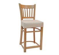 כסא בר למטבח מעץ כולל ריפוד מושב דגם ארז