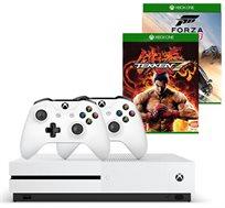 Xbox One S בנפח 500GB כולל  Tekken 7+ FORZA 3 + מנוי ל 3 חודשים ובקר נוסף
