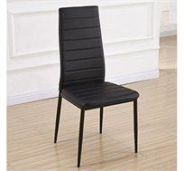 כסא מרופד דמוי עור דגם אירופה במגוון צבעים