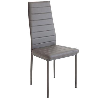 כיסא מודרני ומעוצב בריפוד דמוי עור ורגלים מתכתיות אל חלד דגם אירופה Homax - תמונה 3
