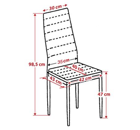 כיסא מודרני ומעוצב בריפוד דמוי עור ורגלים מתכתיות אל חלד דגם אירופה Homax - תמונה 6