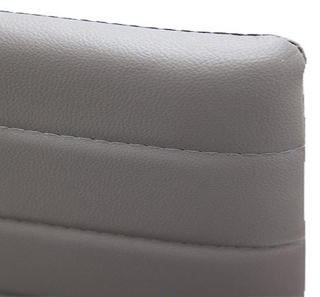 כיסא מודרני ומעוצב בריפוד דמוי עור ורגלים מתכתיות אל חלד דגם אירופה Homax - תמונה 7