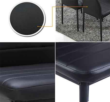 כיסא מודרני ומעוצב בריפוד דמוי עור ורגלים מתכתיות אל חלד דגם אירופה Homax - תמונה 8