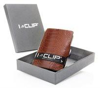 I-Clip דגם ׳Gentelmen׳ עור יען חום