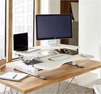 שולחן כתיבה VARIDESK בעל עיצוב דו שכבתי הכולל מנגנון סיוע הרמה בקפיץ המאפשר הרמה והורדה של השולחן  - משלוח חינם