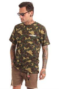 חולצת טי לגברים SUPPLY בצבע ירוק צבאי