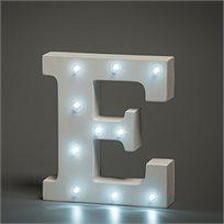מנורת לילה עם תאורת לד Led מעוצבת בצורת האות E