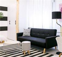 ספה נפתחת למיטה תלת מושבית בעיצוב מודרני כוללת ידיות צד