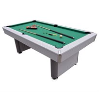 שולחן ביליארד מעץ עבה ואיכותי דגם 7 פיט Crosby עם כיסים מוחבאים לקליטת הכדורים