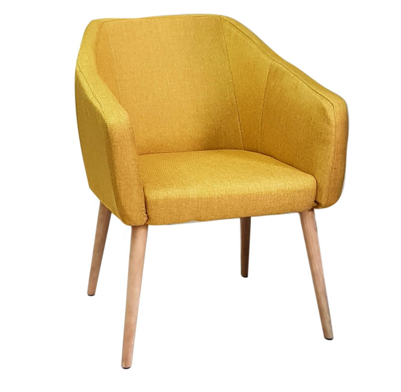 כורסא מרופדת בעלת רגלי עץ בצבעים לבחירה דגם פוזס