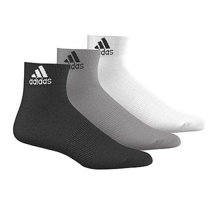 3 זוגות גרבי ספורט קרסוליות לגבר ADIDAS דגם AA2322 - צבע לבחירה