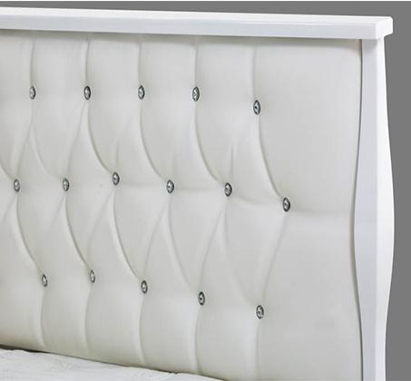 חדר שינה הכולל מיטה זוגית, שתי שידות, קומודה ומראה עשוי עץ אלון משולב MDF דגם לואי LEONARDO - תמונה 2
