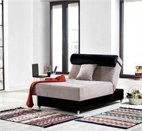 מיטה וחצי אורטופדית LEONARDO עשויה קפיצים איכותיים ועמידים מבד מיקרופייבר