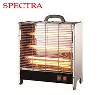 תנור חימום לבית דגם SP177 מבית SPECTRA עם 3 מצבי הפעלה 600/1200/1800 וואט ופתח חימום עליון