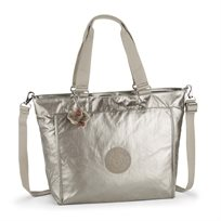 תיק צד גדול NEW SHOPPER L - Metallic Pewterנחושת מתכתית