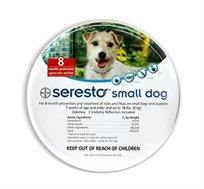 """קולר לכלבים נגד פרעושים וקרציות במשקל עד 8 ק""""ג יעיל עד 8 חודשים Seresto"""