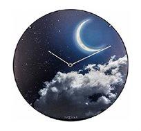 שעון קיר זכוכית DOME ירח