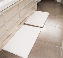 זוג שטיחים חלקים לאמבטיה עם גב מונע החלקה במבחר גוונים לבחירה - משלוח חינם