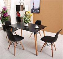 פינת אוכל מודרנית וצעירה בשני צבעים לבחירה וארבעה כיסאות במגוון צבעים