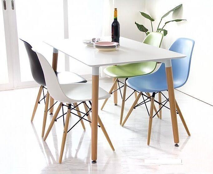 פינת אוכל מודרנית וצעירה בשני צבעים לבחירה וארבעה כיסאות במגוון צבעים - תמונה 3