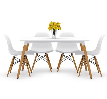 פינת אוכל מודרנית וצעירה בשני צבעים לבחירה וארבעה כיסאות במגוון צבעים - תמונה 8