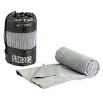 מגבת MICRO FIBER XL + סקוץ מגבת קלה על לשונית לתליה ומתקפלת בקלות לשק